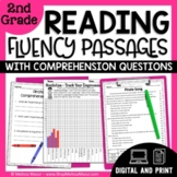 Reading Fluency Passages and Comprehension Questions -  2nd Grade