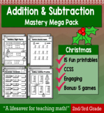 """2nd Grade/3rd Addition & Subtraction """"Mastery Pack"""" for December"""