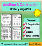 """2nd Grade/3rd Addition & Subtraction """"Mastery Pack"""" for May"""