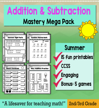 "2nd Grade/3rd Addition & Subtraction ""Mastery Pack"" for May"