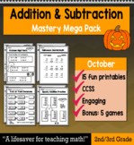 """2nd Grade/3rd Addition & Subtraction """"Mastery Pack"""" for October"""