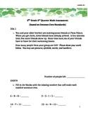 2nd Grade 3rd Quarter Common Core Math Assessment (ANSWER