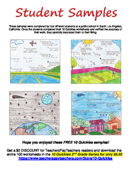 2nd Grade - 4 FREE Math Review Worksheets