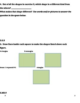 2nd Grade 4th Quarter Common Core Math Assessment [ANSWER KEY INCLUDED]