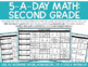 5-a-Day Math: 2nd Grade Weekly Spiraling Review (Full Year)