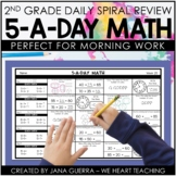 5-a-Day Math: 2nd Grade Math Spiral Review / 2nd Grade Morning Work or Homework