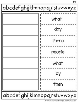 2nd Grade ABC ORDER CUT and PASTE with Reach for Reading High Frequency Words