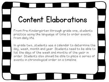 2nd Grade Social Studies Academic Content Standards I Can Statements