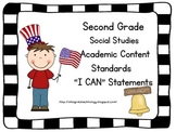 2nd Grade Social Studies Academic Content Standards I Can