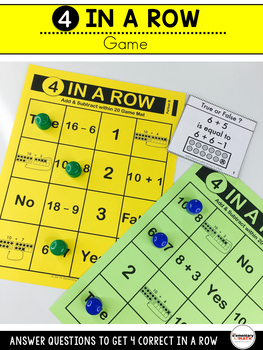 2nd Grade Addition and Subtraction within 20 Games and Centers