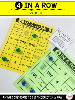 Add and Subtract within 1000 Games and Centers 2nd Grade