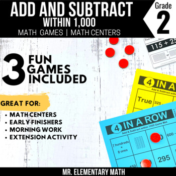 2nd Grade Addition and Subtraction within 1000 Games and Centers