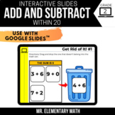 2nd Grade Add and Subtract within 20 | Google Classroom™|