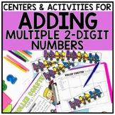 2nd Grade Adding Four 2-Digit Numbers Centers for 2.NBT.6