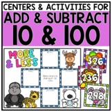 2nd Grade Adding & Subtracting 10 and 100 Centers for 2.NBT.8