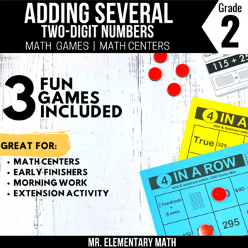 2nd Grade Adding Two Digit Numbers Games and Centers