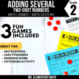 Adding Two Digit Numbers Games and Centers 2nd Grade