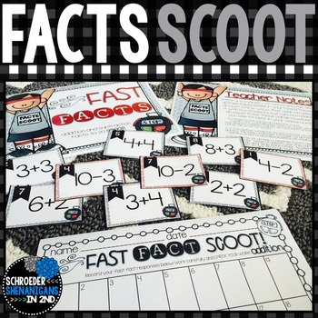 2nd Grade Addition Fact SCOOT Freebie Sample!