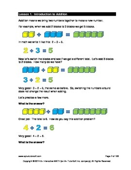 2nd Grade Addition Lessons, Worksheets, Solution Manuals