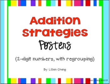 2nd Grade Addition Strategies Posters (2-digit, WITH regrouping)
