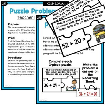 Differentiated 2nd Grade Addition Strategy Worksheets