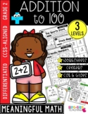 Second Grade Addition to 100 Unit | CCSS Differentiated Worksheets & Centers