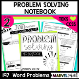 2nd Grade Addition & Subtraction Word Problem Notebook (Level 2A)