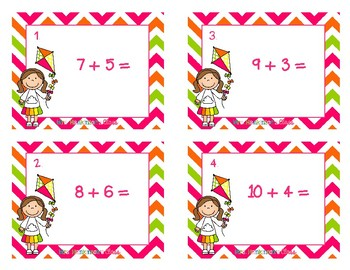 2nd Grade Addition and Subtraction Task Cards Unit