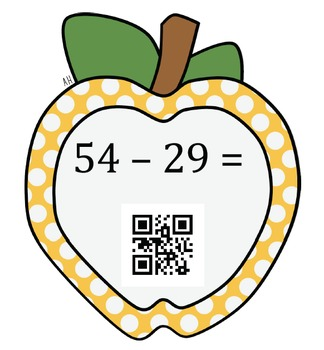 2nd Grade Addition and Subtraction with QR Code Self-Check