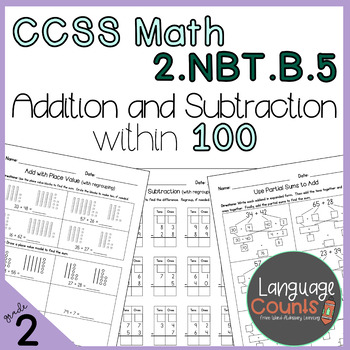 2nd Grade, Addition and Subtraction within 100- No Prep Practice Worksheets