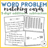 |2nd Grade| Addition & Subtraction to 100 Word Problems Matching Game 2.OA.A.1