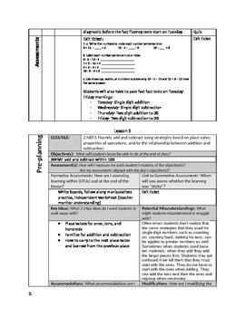 2nd Grade Addition/Subtraction Unit