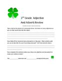 2nd Grade Adjective/Adverb  Shamrock
