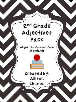 2nd Grade Adjectives Pack