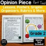 2nd Grade Advanced Opinion Piece Writing Unit {W.2.1}
