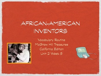 2nd Grade: African American Inventors Vocabulary for McGraw Hill Treasures