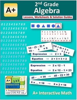 2nd Grade Algebra Lessons, Worksheets, Solution Manuals