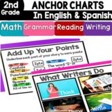 2nd Grade Anchor Charts in English & Spanish: Math/Writing