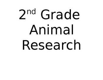 2nd Grade Animal Report Sign