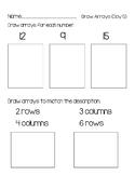 2nd Grade Using Arrays for Multiplication Unit