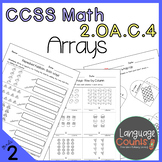 DISTANCE LEARNING 2nd Grade, Arrays & Repeated Addition- N