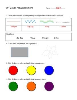 2nd Grade Art Assessment