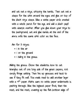 2nd Grade Art Lesson: Ninja Collage