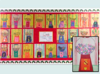 2nd Grade Art Project-Geometric/Organic Shapes Gumball Machine
