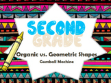 2nd Grade Art Project-Geometric/Organic Shapes Gumball Machine