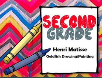 "2nd Grade Art Project-Henri Matisse ""Goldfish"" Painting"