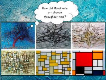 2nd Grade Art Project-Piet Mondrian Multimedia Cube