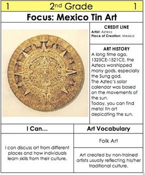 2nd Grade Art Table Centers by Medium with SUB Plans