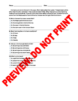 2nd Grade Ask and Answer Questions CCSS Test Bank