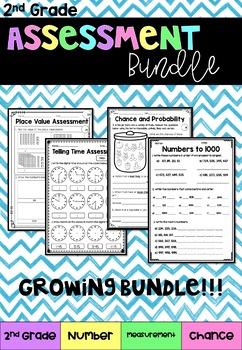 2nd Grade Assessment Bundle